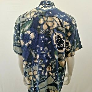 Harry Rosen Shirts - Harry Rosen Silk Hawaiian Shirt Men's Floral
